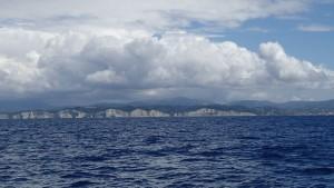 Blick zurück auf Korfu
